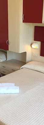 stanza quadrupla hotel 3 stelle Rimini