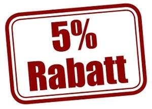 5% Rabatt garantiert besten Preis